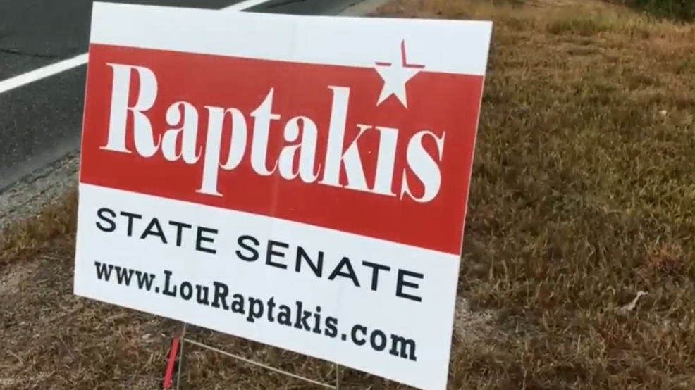 Raptakis sign stolen
